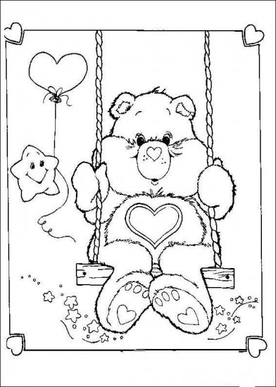 Coloring book- Hello Kitty, Bratz & Care Bears, over 100 pages, unlimited for you to print out!!