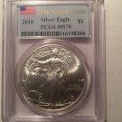 2010 Silver Eagle $1
