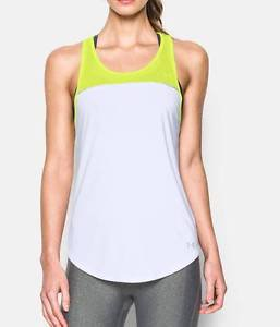 Under Armour Women's UA Fly-By 2.0 Fitted Color Block Running Tank Top 1277058
