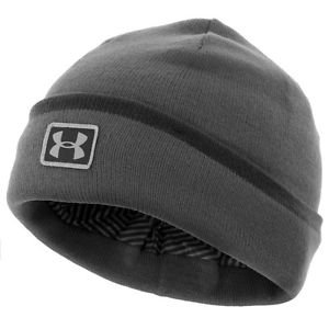 Under Armour UA ColdGear Infrared Cuff Sideline Beanie Hat (Red or Gray) 1262143