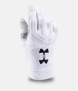 Under Armour Men's UA Motive Baseball Batting Gloves (White) 1267429