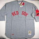 Mitchell & Ness Men's Boston Red Sox 1930 Gray Pinstripe Jersey (2XL) - 30REDS