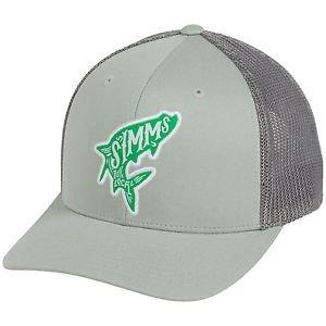 Simms Flexfit 110 Trucker Cap Woodblock Mesh Hat (One Size adjustable) 174H