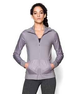 Under Armour Women's UA Studio Essential Jacket (Large, Cloud Grey) 1260186