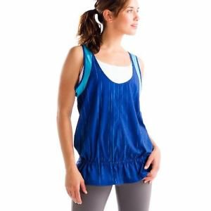 Lole Jump-Up Tank Top - Women's (Small, Solidate Blue Broken Stripe) LSW0886