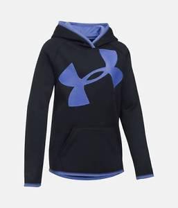 UA Armour Girls' UA Fleece Jumbo Logo Hoodie 1284876 1284879