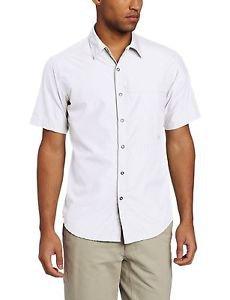 Exofficio Men's Trip'r Short Sleeve Shirt (Small, White) 1002-1714