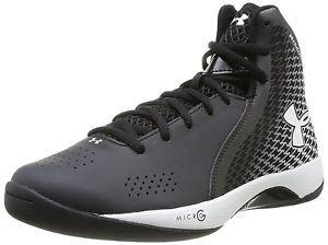 Under Armour UA Micro G Torch Basketball Shoe w/ ClutchFit - Black White 1246940