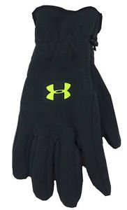 Under Armour Men's $39 UA Coldgear Storm Fleece Logo Gloves - Black sz S 1254104