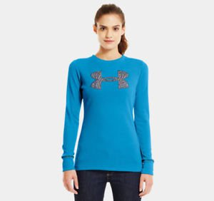 Under Armour Women UA Waffle Tackle Twill Long Sleeve Shirt (Small) 1220689
