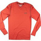 Under Armour Mens UA Coldgear Infrared V-Neck Long Sleeve Striped Shirt -1266016