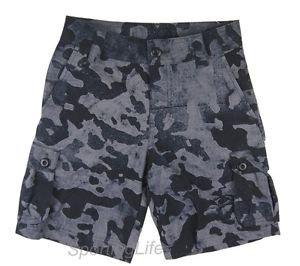 Under Armour Boys' $44 UA Scatter Woven Golf Cargo Shorts - Black Grey 1254500
