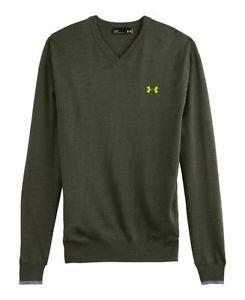 Under Armour Men's UA Merino Wool V-Neck Sweater (Small, Rough) - 1248118
