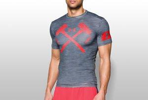 Under Armour Mens $59 UA Combine Training Hammers Compression Shirt - 1257515