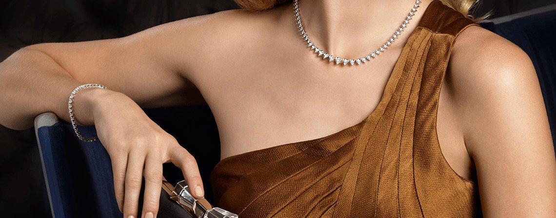 RRP £27216..!! 9.00 Carat Round Diamond Women Tennis Necklace made in 18k White Gold