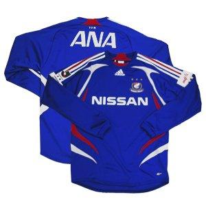 07 Yokohama F-Marinos Soccer Shirt Replica Home Long Sleeve (Full Sponsor)
