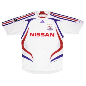 07 Yokohama F-Marinos Soccer Shirt Authentic Away Short Sleeve (Standard)