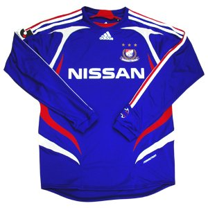 07 Yokohama F-Marinos Soccer Shirt Authentic Home Long Sleeve (Standard)