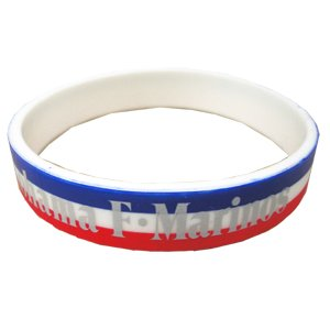 Silicon Tricolore Hooped Bracelet