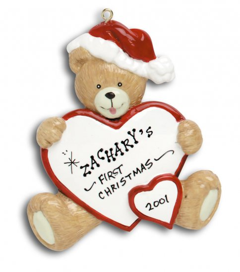 Baby bear W/ Heart -Red