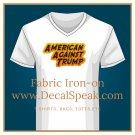American Against Trump, Fabric Iron-on