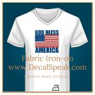 God Bless America Fabric Iron-on