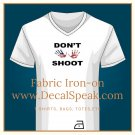 Hands Up Don't Shoot Fabric Iron-on
