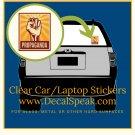 Propaganda Clear Car/Laptop Decal