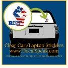 Resist Flag Fist Clear Car/Laptop Sticker