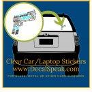Gun Clear Car/Laptop Sticker