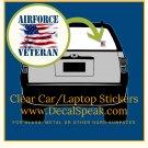 Air Force Veteran #2 Clear Car/Laptop Sticker