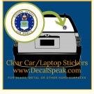 US Air Force 2 Clear Car/Laptop Sticker
