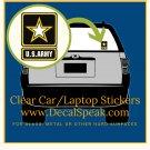 US Army Star Clear Car/Laptop Sticker