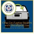US Coast Guard Clear Car/Laptop Sticker