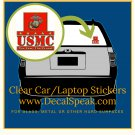 The Few The Proud Clear Car/Laptop Sticker