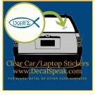 ΙΧΘΥΣ Clear Car/Laptop Sticker 2 pieces