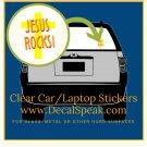 Jesus Rocks Cross Car/Laptop Sticker