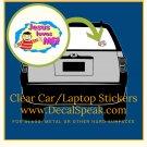 Jesus Loves Me Clear Car/Laptop Sticker