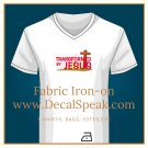 Transformed by Jesus Fabric Iron-on