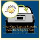 Powered by Jesus Clear Car/Laptop Sticker