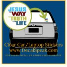 Jesus the Way the truth & the Light Clear Car/Laptop Sticker