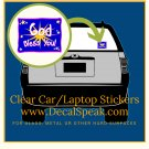 God Bless You Clear Car/Laptop Sticker
