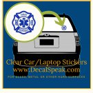 First Responder 1 Clear Car/Laptop Sticker