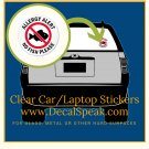Allergy Alert No Fish Please Car/Laptop Sticker