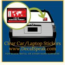 Int'l ISIS Hunting Permit Clear Car/Laptop Sticker