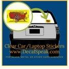 U.S. Zombie Hunting License Clear Car/Laptop Sticker
