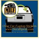 Fishing MILF Clear Car/Laptop Sticker