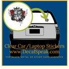 Death Metal Music Clear Car/Laptop Sticker