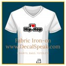 I ♥ Hip Hop Fabric Iron-on