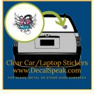 Pop Music Clear Car/Laptop Sticker